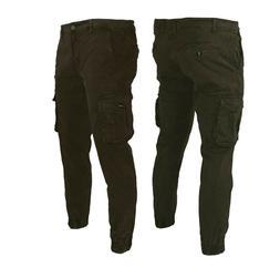 Uomo Larga Pantaloni Militari a Sigaretta Taglie Forti lungo Casual Outdoor